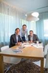 Vlnr: Aart Verkaik, Lars Zwart, John Bouwman